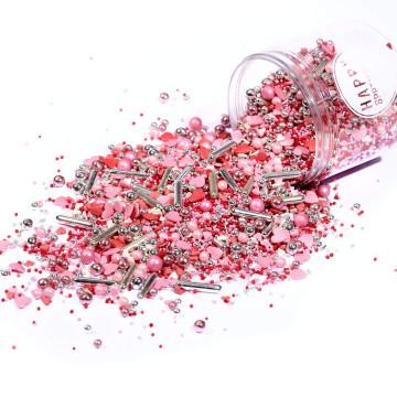 Sprinkles Rojo, Rosa, Blanco y Plata 90 gr Happy Sprinkles