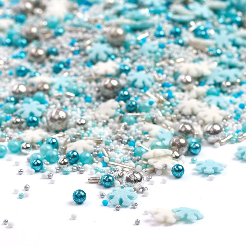Sprinkles Azul, Blanco y Plata Frost Queen 90 gr Happy Sprinkles