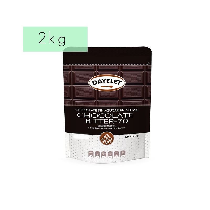Chocolate negro 70% sin azúcar Dayelet