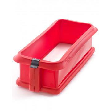 Molde rectangular 24 cm : silicona con plato de ceramica Rojo Lékué