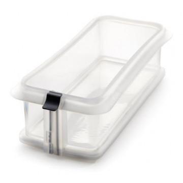 Molde rectangular 24 cm : silicona con plato de ceramica Blanco Lékué