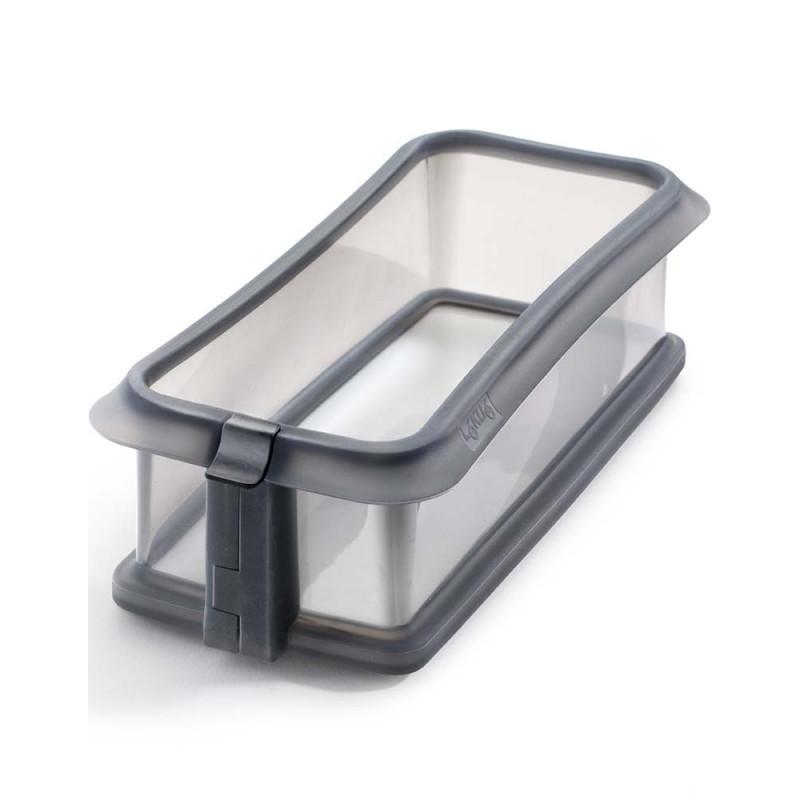 Molde rectangular 24 cm : silicona con plato de ceramica Negro Lékué