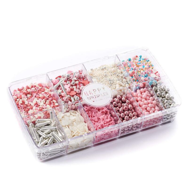 Caja de Sprinkles Mix 300 gr Pink Dream Happy Sprinkles