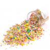 Sprinkles Verde, Amarillo, Azul , Rosa y Blanco Tropical Miami 90 gr Happy Sprinkles