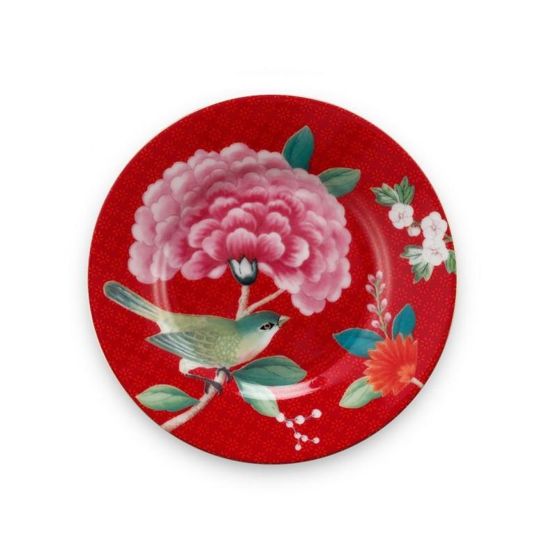 Plato de cerámica 12 cm Rojo Blushing Birds