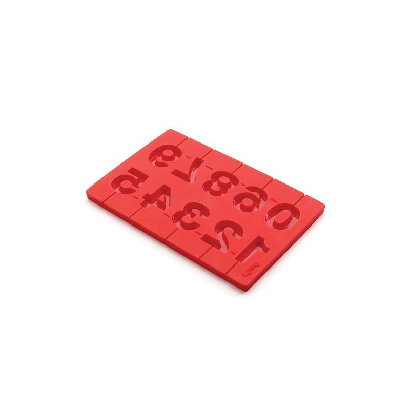 Molde piruletas números silicona Lekué