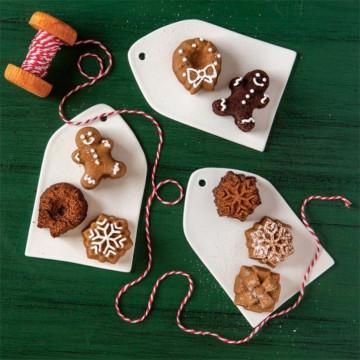 Molde 16 cavidades mini bundt cake Holiday Tea Cakes Nordic Ware