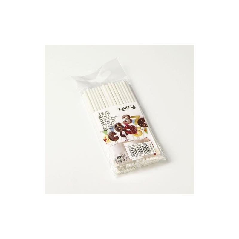 Pack 50 palitos plastico piruletas Léuké