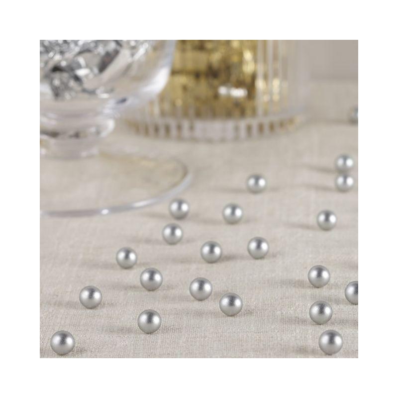 Confeti de perlas plata nacaradas