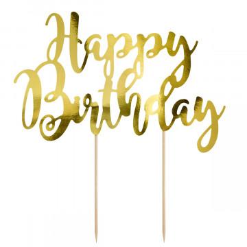 Topper para tartas Happy Birthday