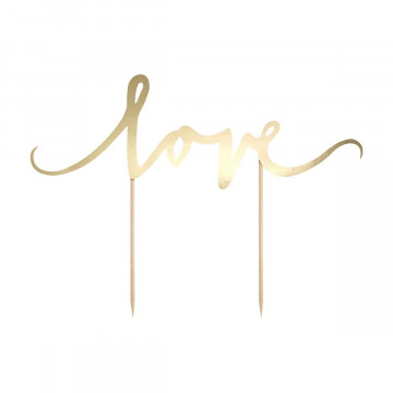 Topper para tartas Oro Love