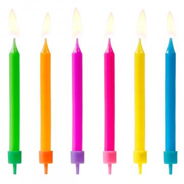Pack de 6 Velas de Colores Brillantes