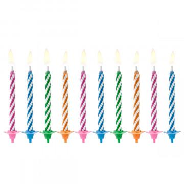 Pack de 10 Velas de cumpleaños Mágicas Colores