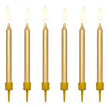 Pack de 6 Velas de Cumpleaños Oro