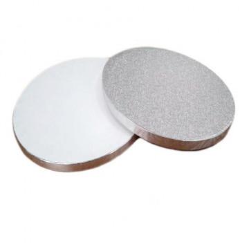 Bandeja de presentación plata 33 x 1.2 cm redonda