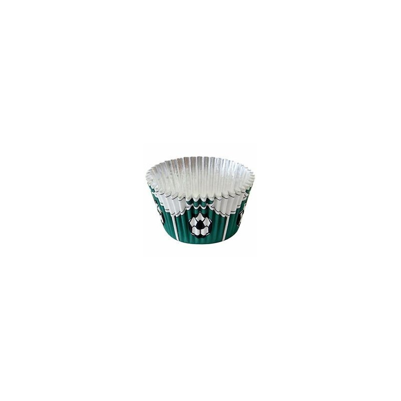Cápsulas cupcakes antigrasa fútbol verde PME