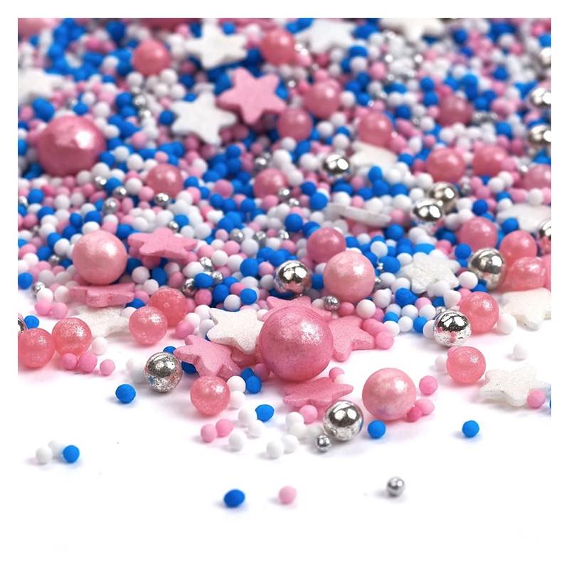 Sprinkles Rosa, Azul, Blanco y Plata Dreamy Me 90 gr Happy Sprinkles