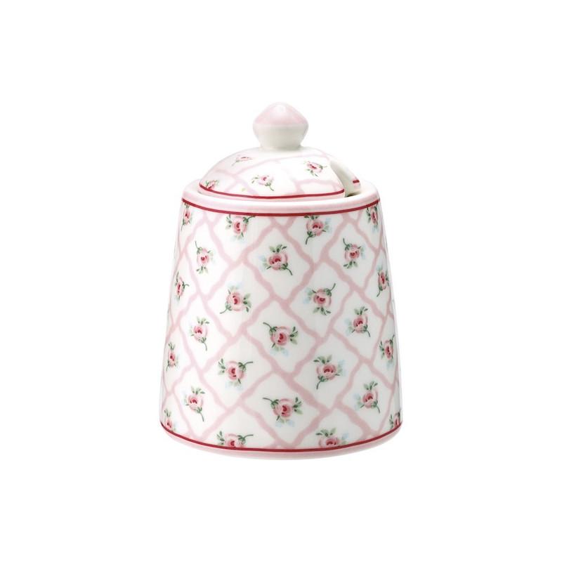 Azucarero de cerámica Rita Pale Pink Green Gate