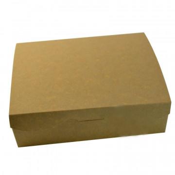 Caja rectangular dulces en Kraft 20.2 x 15.7 x 6 cm