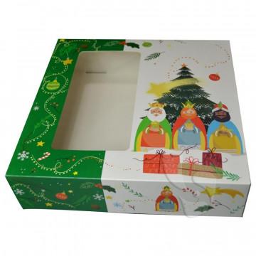 Caja de Roscón de Reyes de 28 cm Estrella
