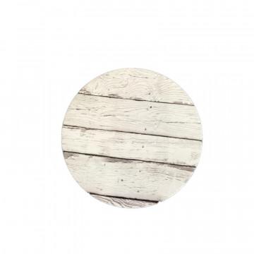 Bandeja de presentación redonda 30 cm x 3 mm Madera