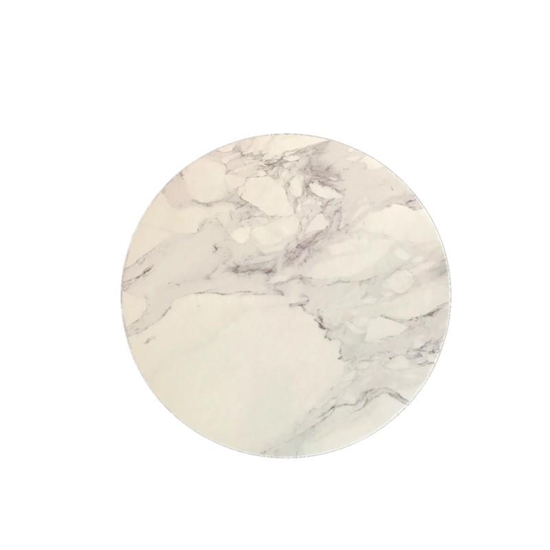 Bandeja de presentación redonda 20 cm x 3 mm Mármol
