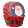 Cápsulas de cupcakes Santa Claus Navidad Wilton