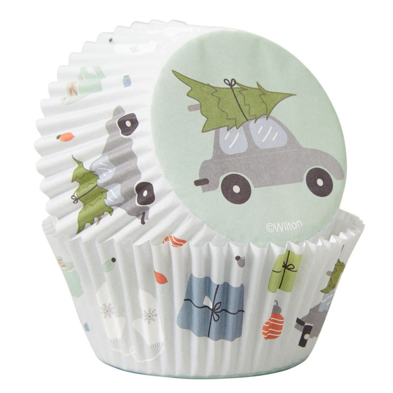 Cápsulas de cupcakes Winter Wishes Navidad Wilton