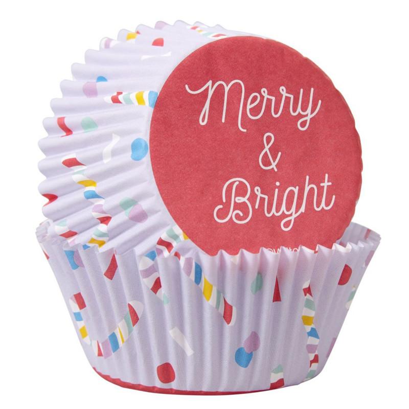 Cápsulas de cupcake Merry and Bright Navidad Wilton