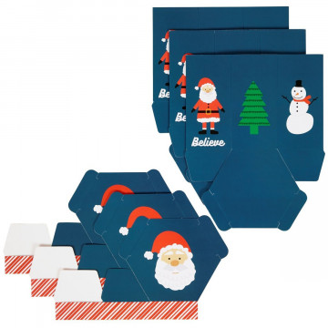 Pack de 3 Cajas Taza de Navidad Wilton