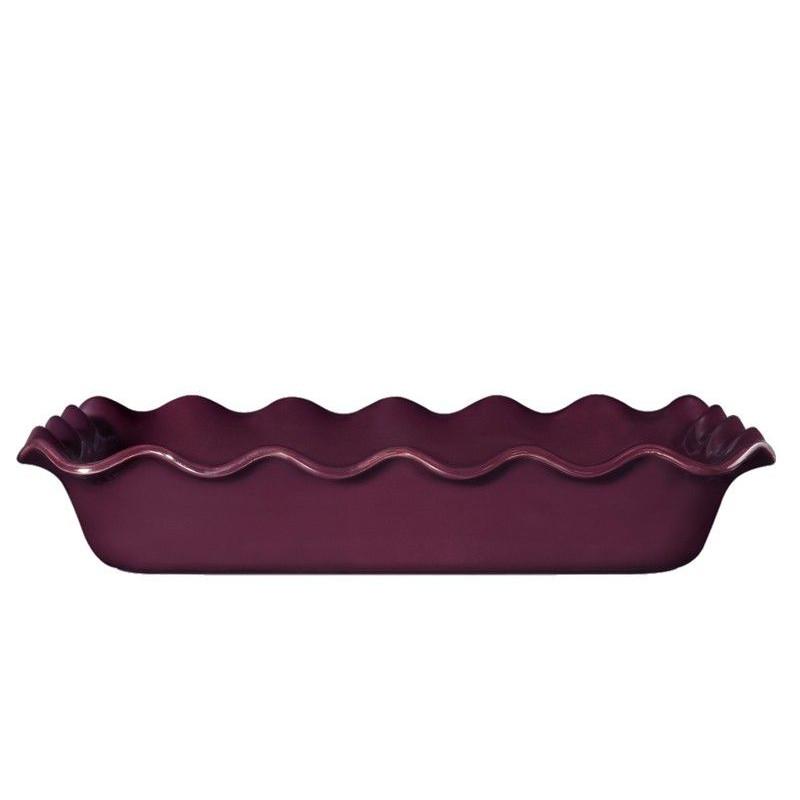 Molde rectangular de ceramica Ondulado Granate Émily Henry