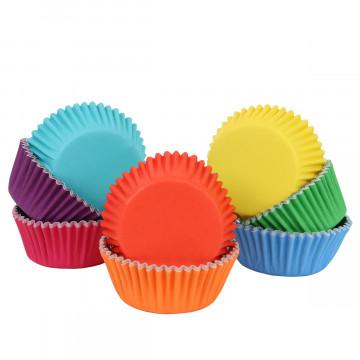 Pack de 100 Cápsulas de Cupcakes Arcoíris PME