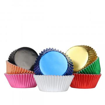 Pack de 100 Cápsulas de Cupcakes Arcoíris Metalizado PME