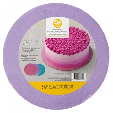 Pack de 3 Bandejas de 30 cm Purpurina Rosa Violeta Turquesa Wilton