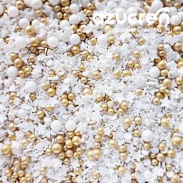 Sprinkles White Gold 90 gr Azucren