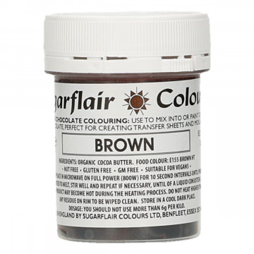 Colorante liposoluble para chocolate Marrón 35 gr Sugarflair