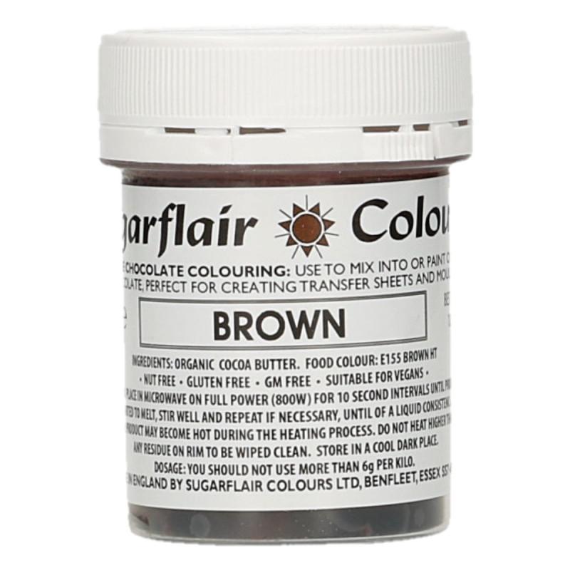 Colorante liposoluble para chocolate Marrón 35 gr Sugarflair