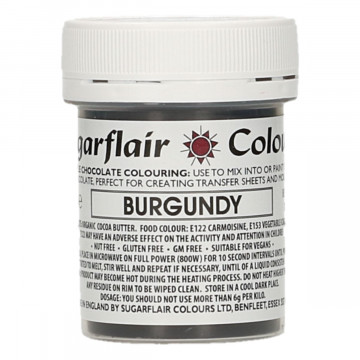 Colorante liposoluble para chocolate Granate 35 gr Sugarflair