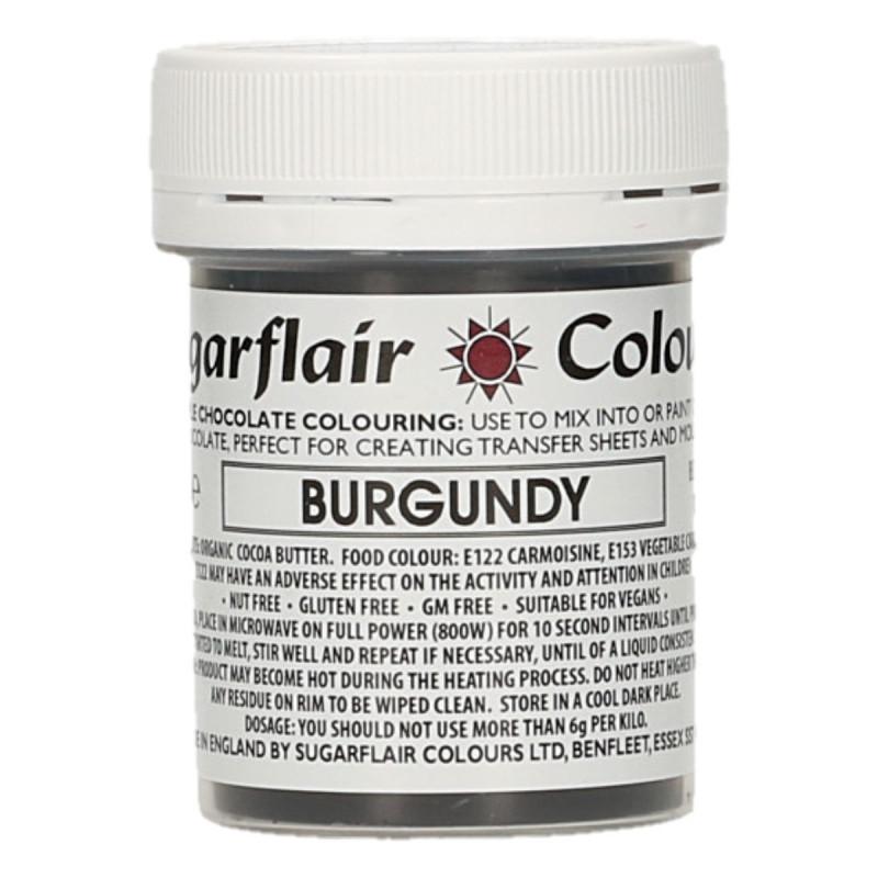Colorante liposoluble para chocolate Granate 35 gr Sugarflair