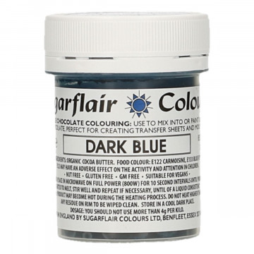 Colorante liposoluble para chocolate Azul Oscuro 35 gr Sugarflair