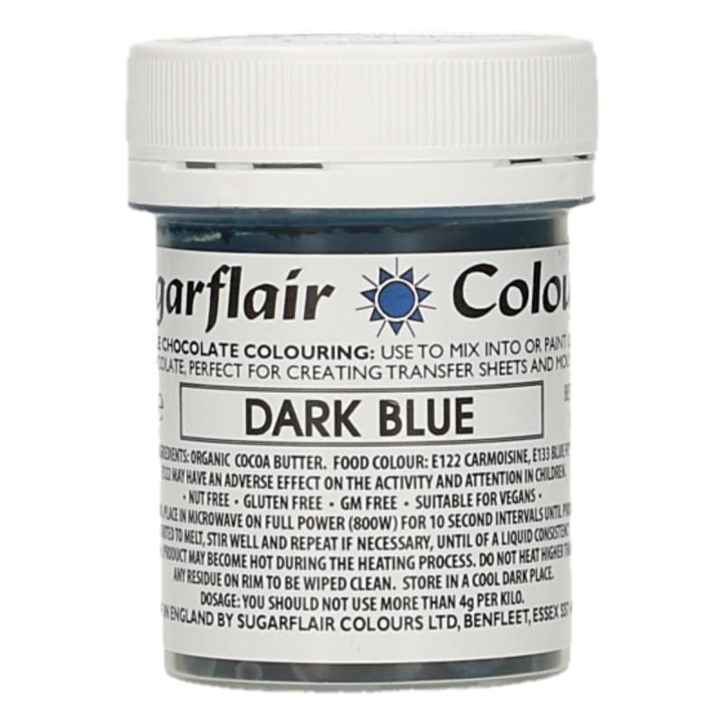 Colorante liposoluble para chocolate Azul Oscuro 35 gr Sugarflair