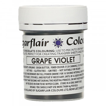 Colorante liposoluble para chocolate Violeta Uva 35 gr Sugarflair