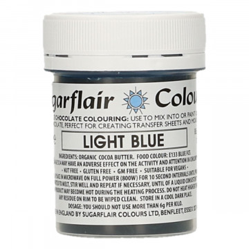 Colorante liposoluble para chocolate Azul Claro 35 gr Sugarflair