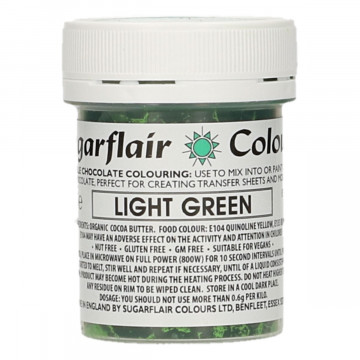 Colorante liposoluble para chocolate Verde Claro 35 gr Sugarflair