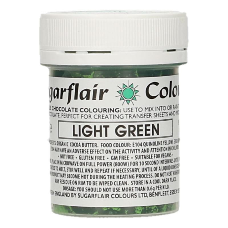 Colorante liposoluble para chocolate Verde Claro 35 gr Sugarflair