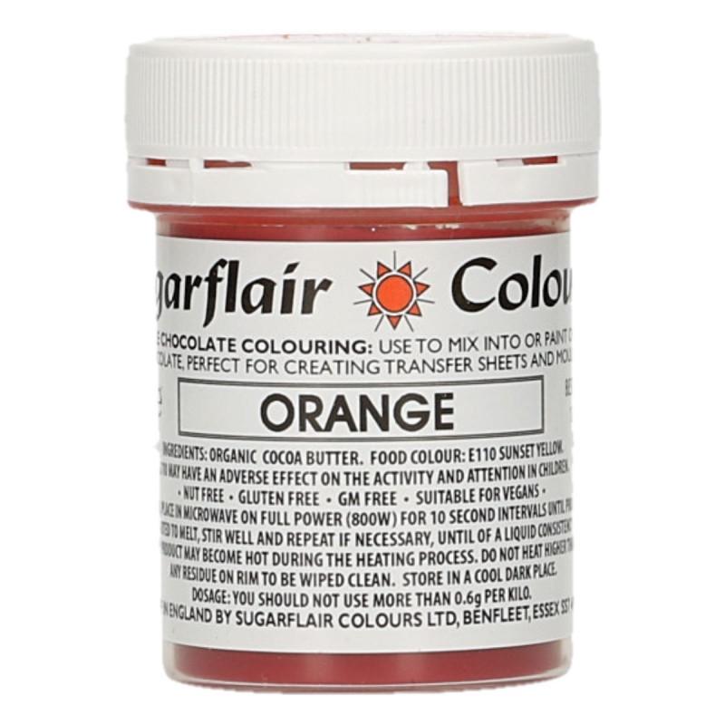 Colorante liposoluble para chocolate Naranja 35 gr Sugarflair
