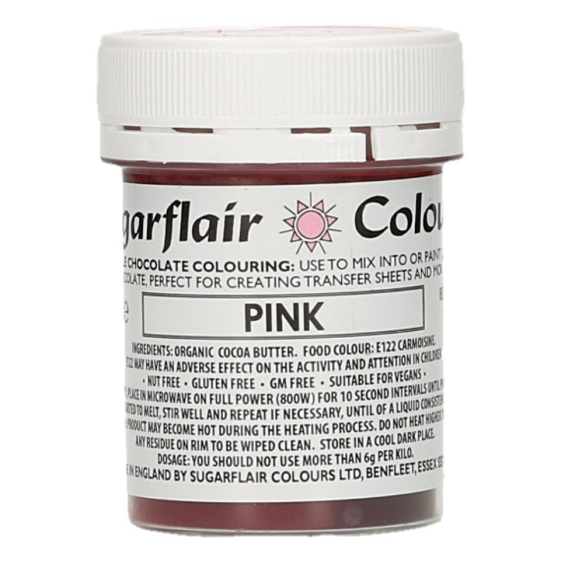 Colorante liposoluble para chocolate Rosa 35 gr Sugarflair