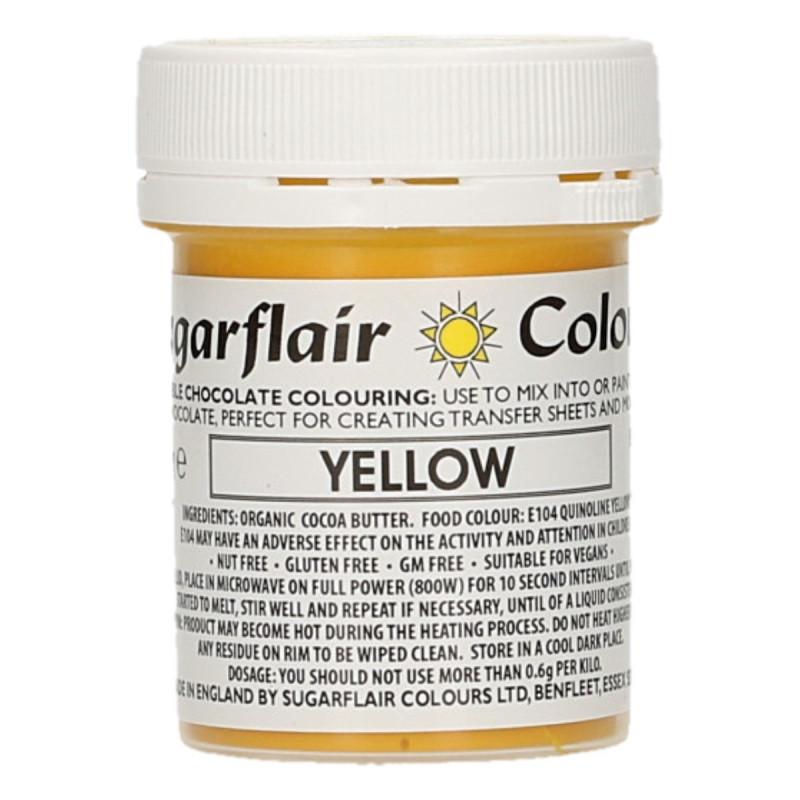 Colorante liposoluble para chocolate Amarillo 35 gr Sugarflair