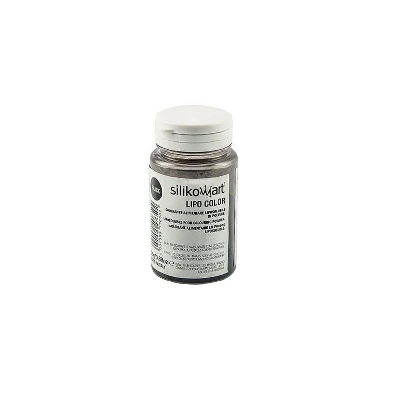 Colorante en polvo Liposoluble Negro 25 gr Silikomart