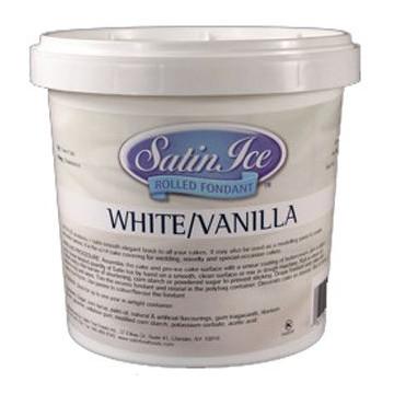 Fondant Blanco Vainilla 1 kg Satin Ice